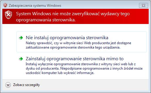 Ostrzeżenie systemu - Arduino