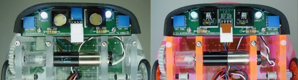 Przykładowe zestawy czujników linii.