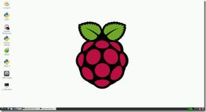 Domyślny pulpit w Raspberry Pi.