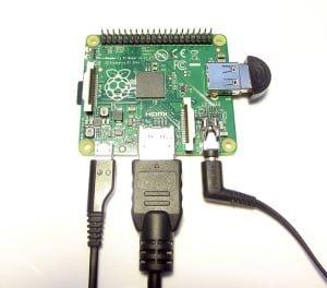 RaspberryPi A+ i podłączone peryferia
