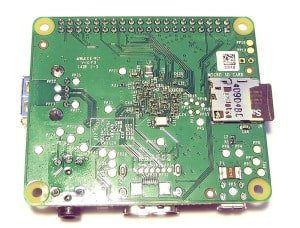 Tył Raspberry Pi A+