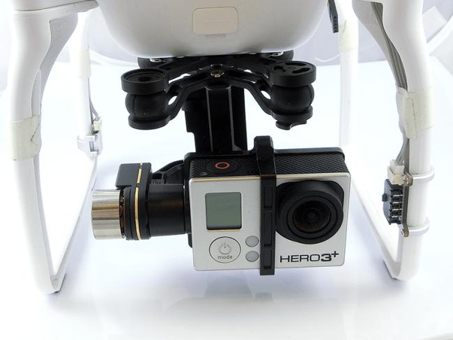 Kamera podczepiona do DJI Phantom 2