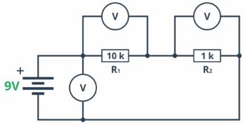 Drugie prawo Kirchhoffa na prostym schemacie