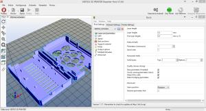 Zrzut programu Vertex 3D Printer Host oraz Slic3r