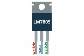 Opis wyprowadzeń stabilizatora LM7805