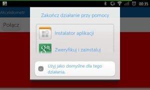 Instalowanie aplikacji na telefonie.