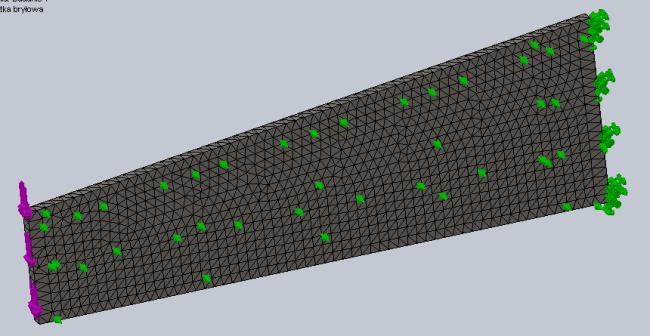 Aktualny wygląd modelu w SolidWorks.
