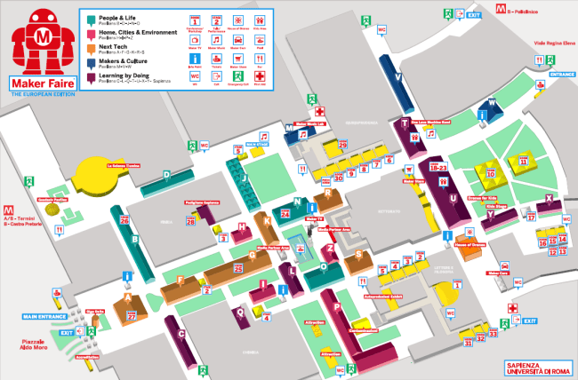 Mapa targów.