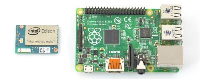 Porównanie Intel Edison i Raspberry Pi.