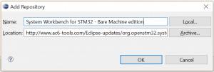 Dołączanie wtyczki SW4STM32 do Eclipse
