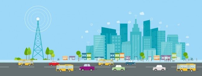 Miasto przyszłości - sieć 5G.