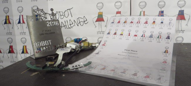 Falsh - zwycięski robot.