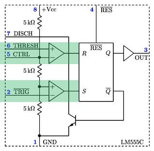 NE555 - blok 2 - komparatory napięcia.