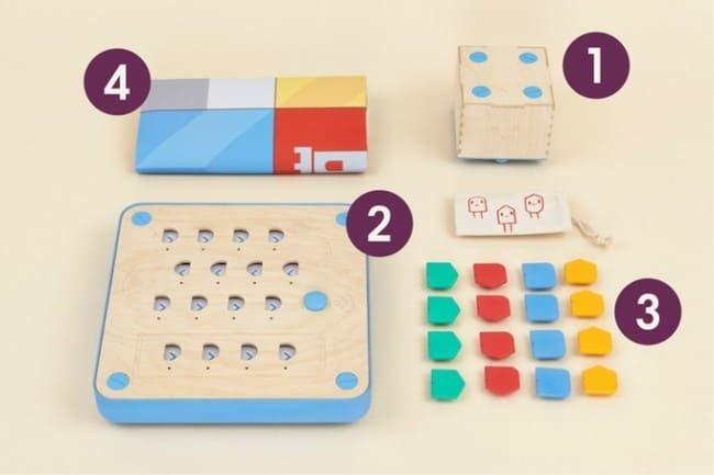 Elementy zestawu edukacyjnego Cubetto