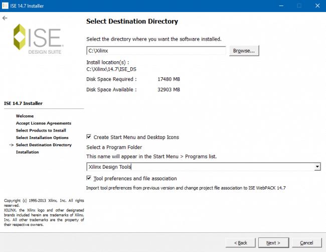 Określenie docelowego folderu podczas instalacji.