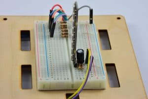 Linijka diod – widok od boku.