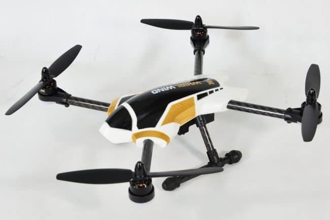 Quadrocopter XK X251 po wyjęciu z pudełka.