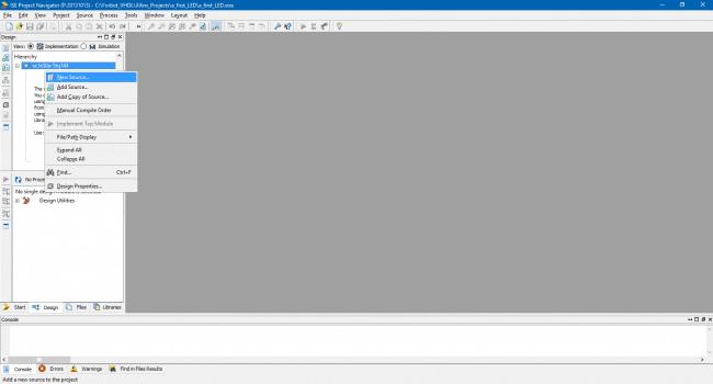 Tworzenie modułu VHDL w projekcie.
