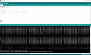Widok większej ilości szczegółów działania Arduino.