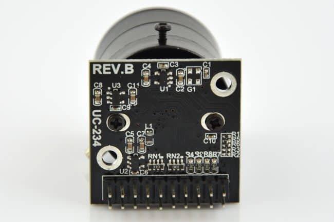 Elektronika oraz złącze modułu OV5642 5MPx.