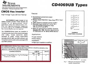 Rekomendowane zasilanie dla układu CD4069.