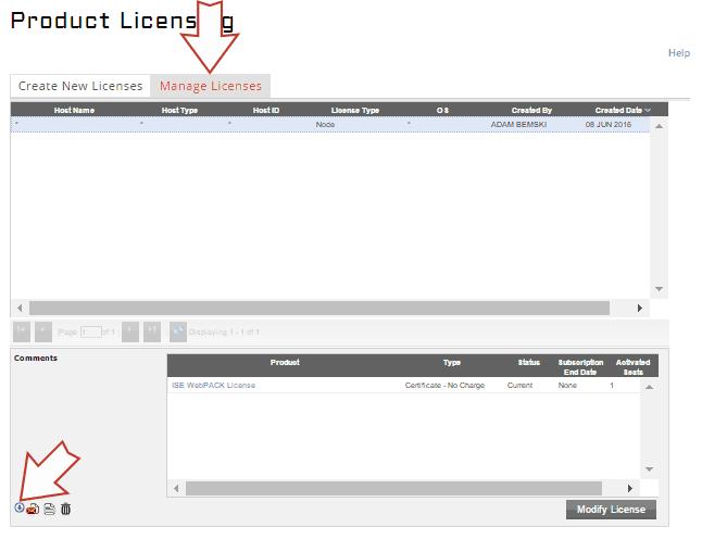 Pobieranie pliku licencji dla reinstalacji ISE Webpack.