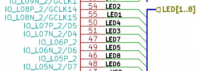 Piny diod świecących.