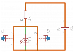 Oba przyciski wciśnięte – dioda wyłączona.