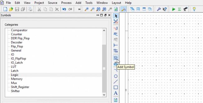 Narzędzie dodawania elementów - Add Symbol.