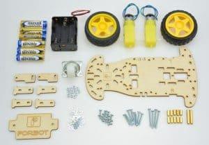 Elementy mechaniczne do budowy robota.