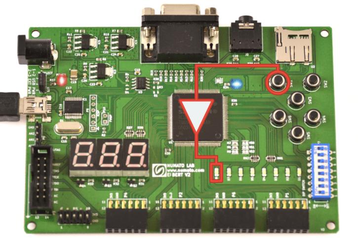 Implementacja bramki NOT na FPGA - edytor graficzny.