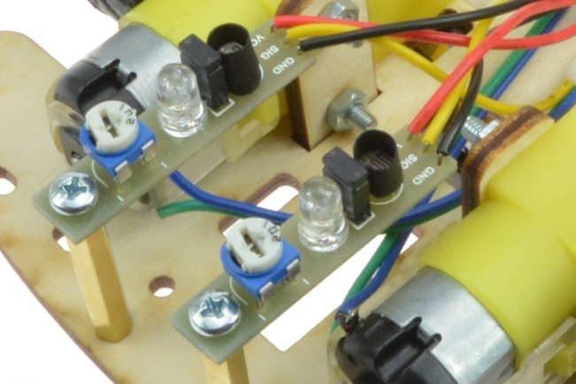 Fotorezystory osłonięte rurkami termokurczliwymi.