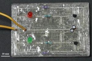 Elastyczny układ elektroniczny z drukarki 3D