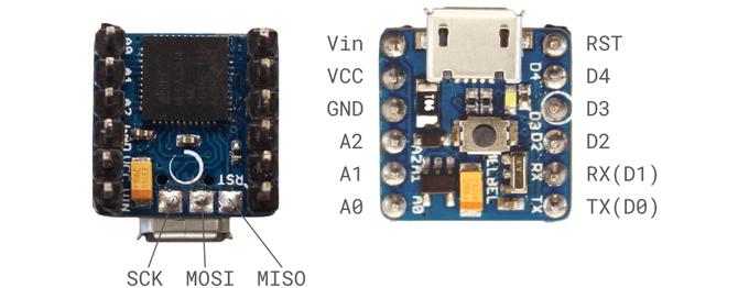 Wyprowadzenia Arduino PICO.
