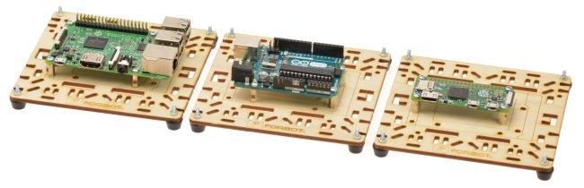 Od lewej: Raspberry Pi 3, Arduino UNO, Raspberry Pi 0.
