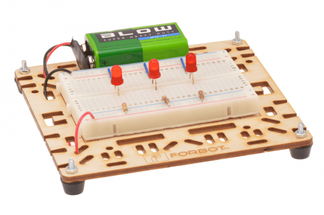 Porównanie jasności świecenia diod zasilanych różnym prądem od 1 do 21mA.
