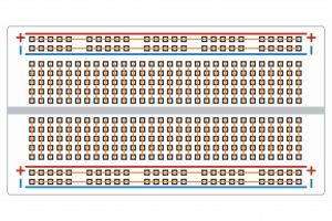 Schemat połączeń wewnętrznych płytki stykowej.