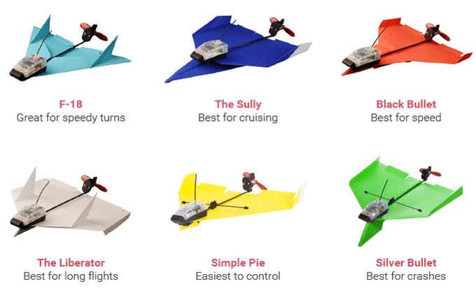 Rodzaje szablonów samolotów z papieru.