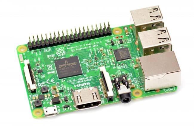 Raspberry Pi model 3.