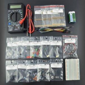 Przykładowy zestaw dokursu podstaw elektroniki.