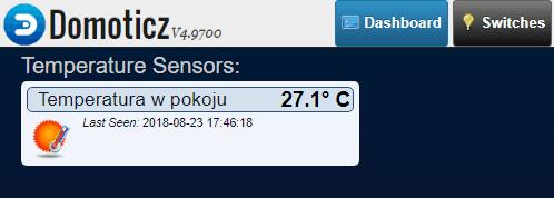 Podręczny widget z aktualną temperaturą.