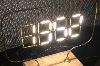 Zegar Arduino z filamentów LED