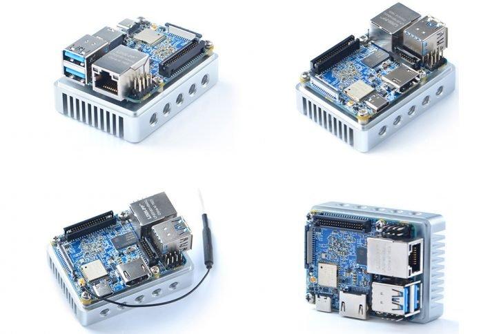 Neo4 z opcjonalnym radiatorem i zewnętrzną anteną