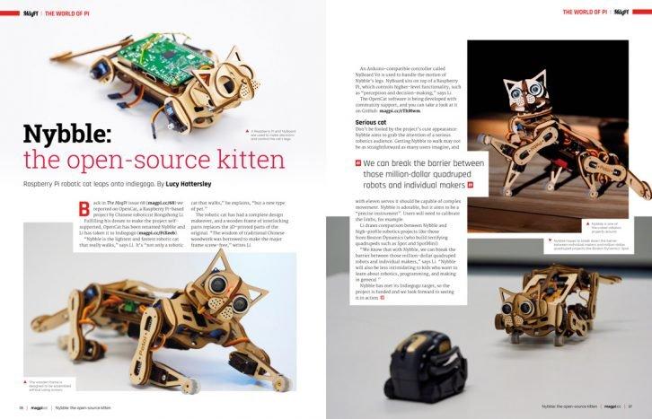 Nybble to croudfundingowy projekt robotycznego kota