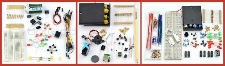 Część wyposażenia zestawu Mistrza Elektroniki