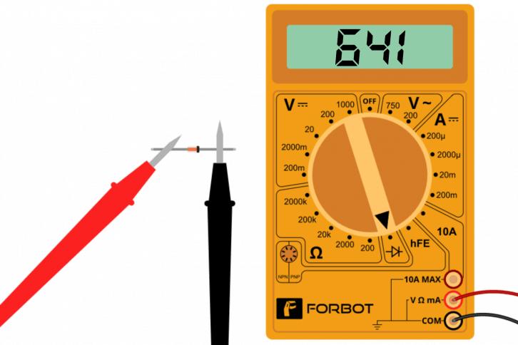 Test diody prostowniczej poprzez pomiar napięcia przewodzenia