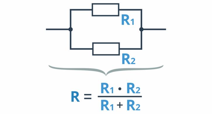 Obliczanie oporu zastępczego przy równoległym łączeniu dwóch rezystorów