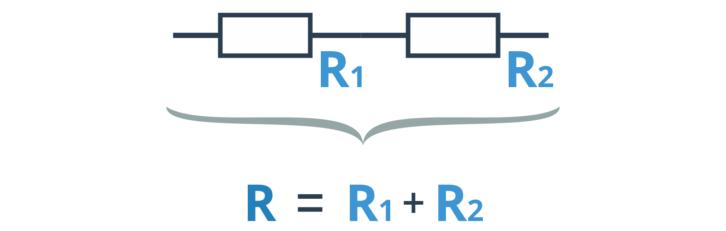 Opór zastępczy dwóch rezystorów połączonych szeregowo