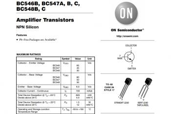 Fragmenty przykładowej dokumentacji tranzystora