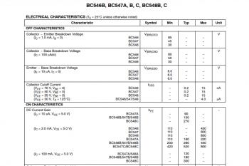 Fragmenty przykładowej dokumentacji tranzystora cd.